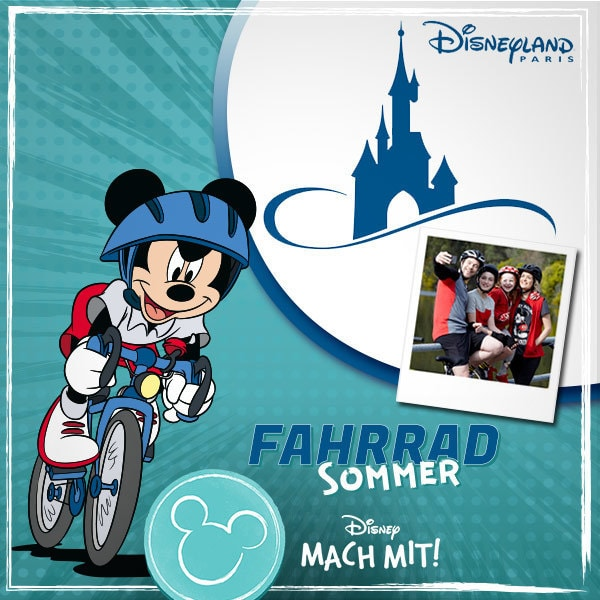 Radel Dich nach Disneyland Paris!