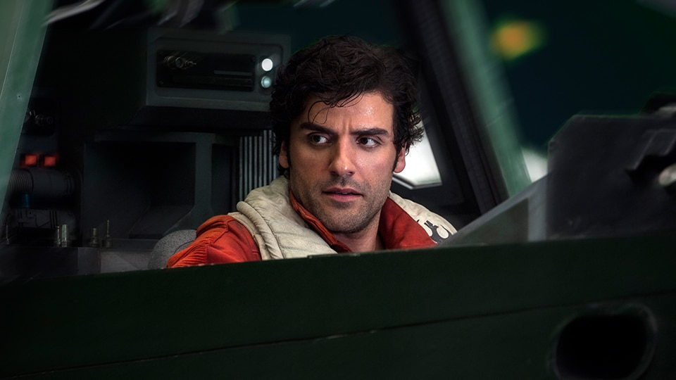 Poe Dameron in a spaceship