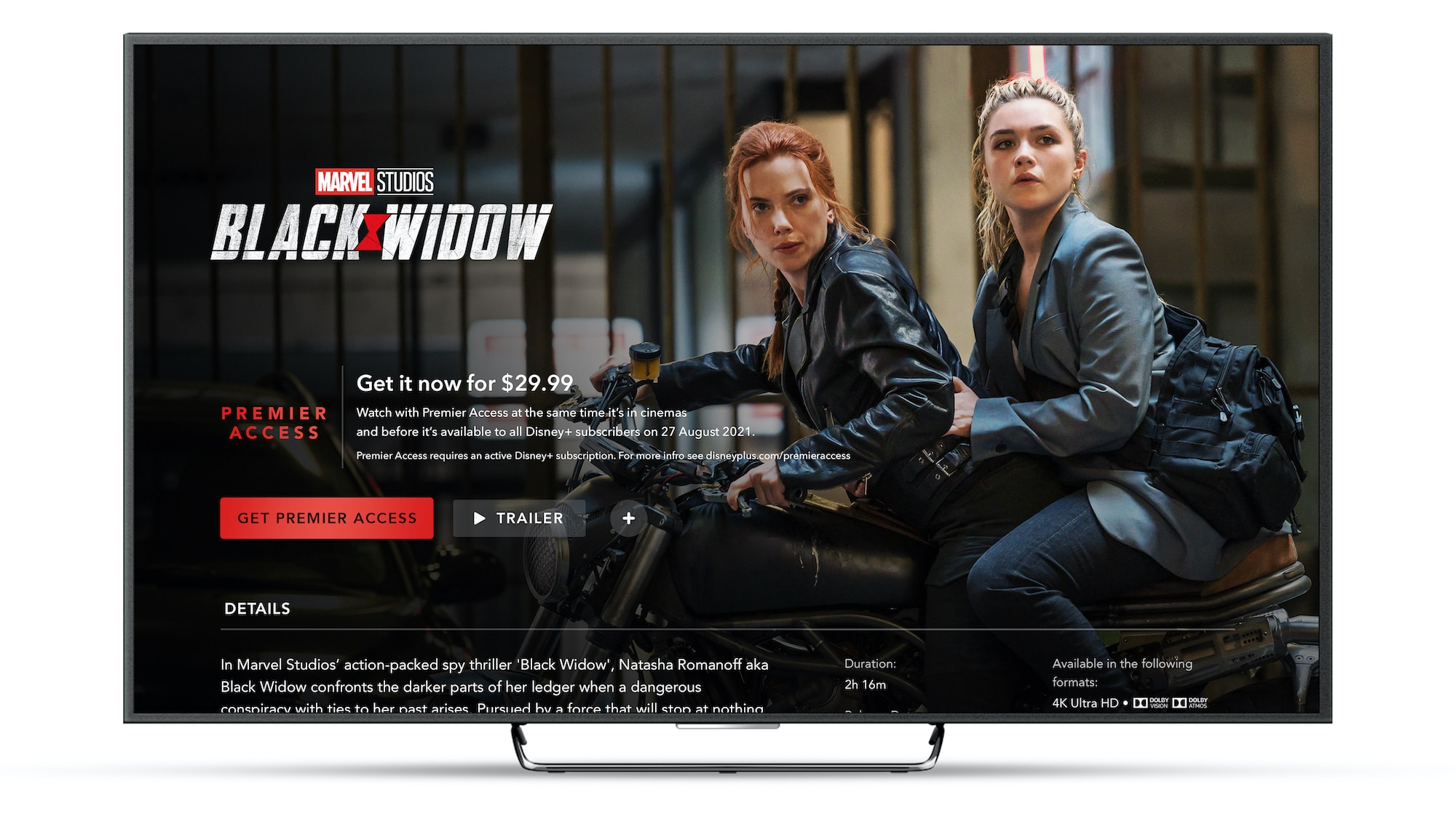 Disney+ Black Widow Premiere Access on Connected TV