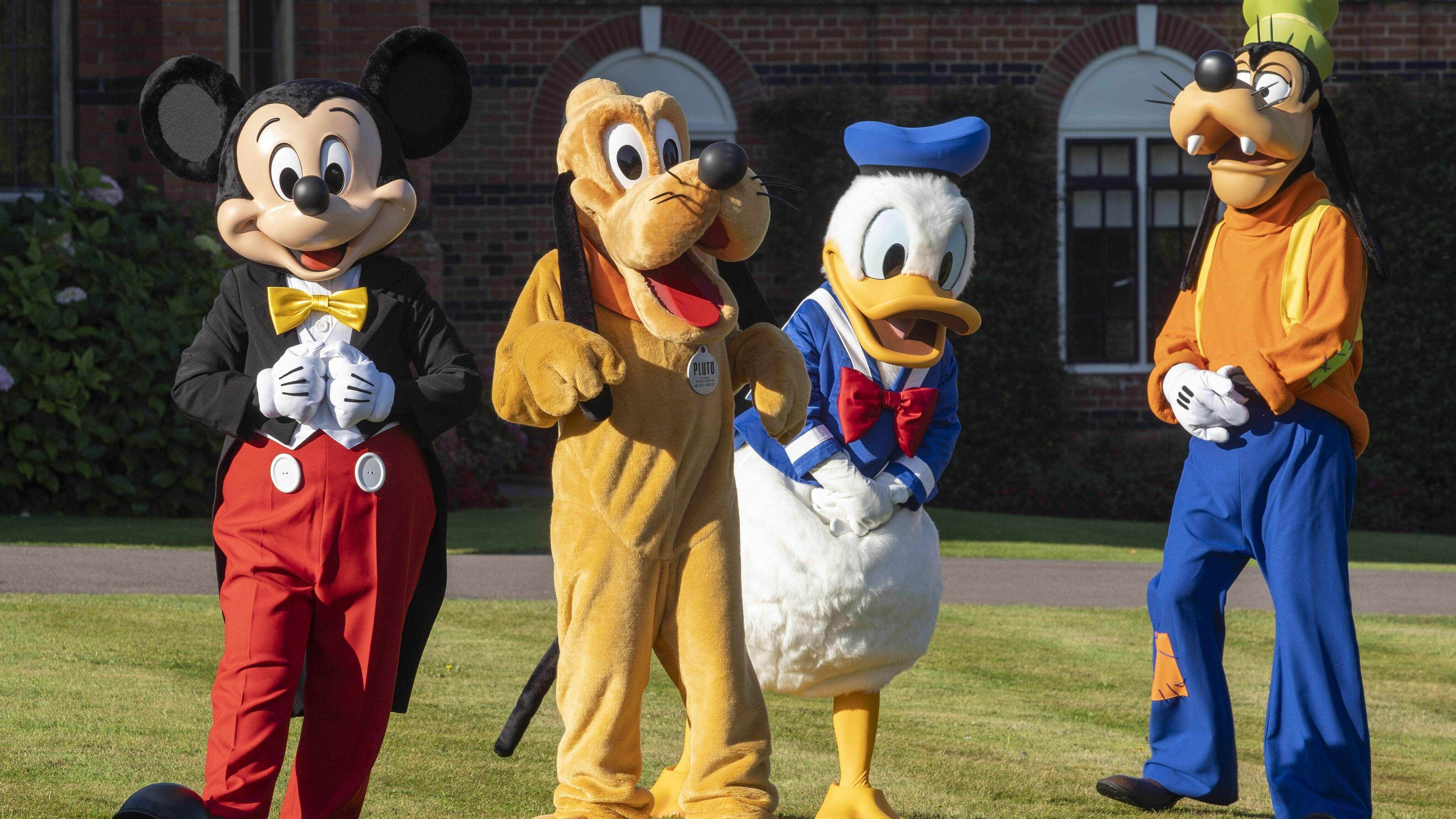 Mickey Mouse, Pluto, Donald Duck, Goofy