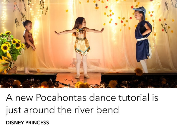 Watch a Pocahontas dance tutorial with Tiny Tutus Preschool Ballet