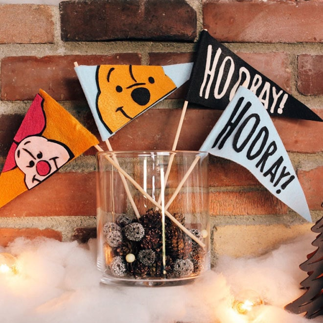 Craft: Winnie The Pooh Flags