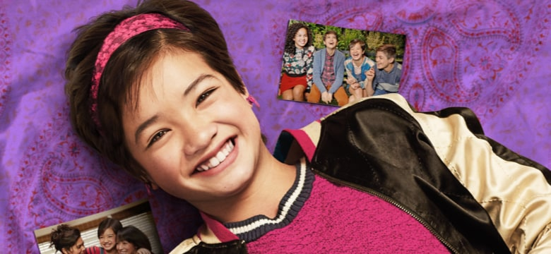 Peyton Elizabeth Lee in costume as Andi Mack