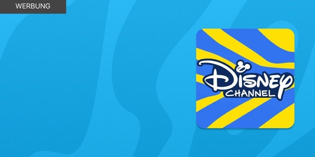 WERBUNG - Das Disney Channel App Icon auf einem hellblauen Hintergrund