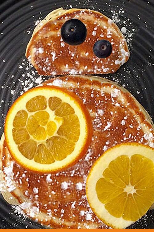 Tortitas inspiradas en BB-8