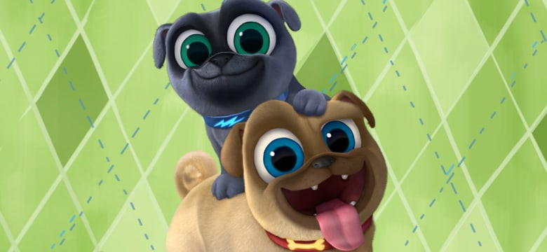 Bingo and Rolly from Puppy Dog Pals