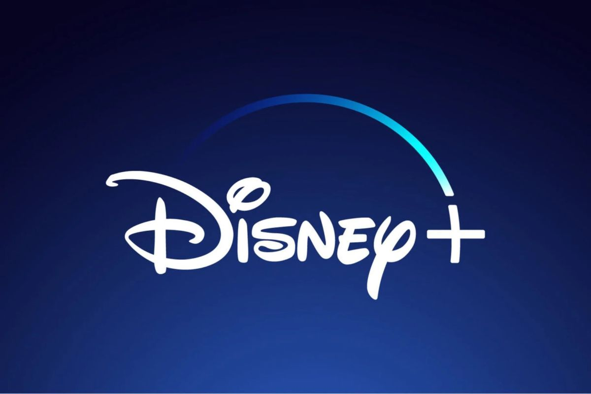 Disney plus logo with dark blue background