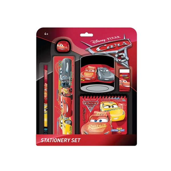 Disney Pixar Cars 3 Stationery Set With Notepad - Red Colour