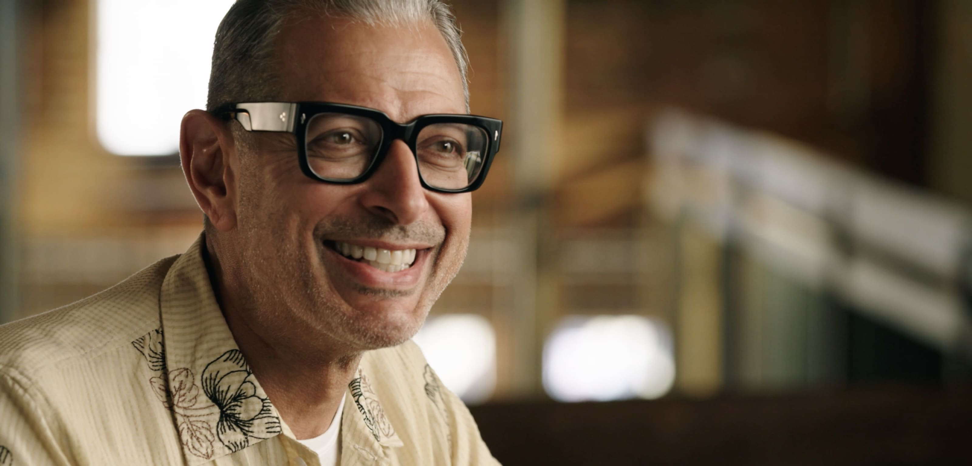 A still image from The World According to Jeff Goldblum