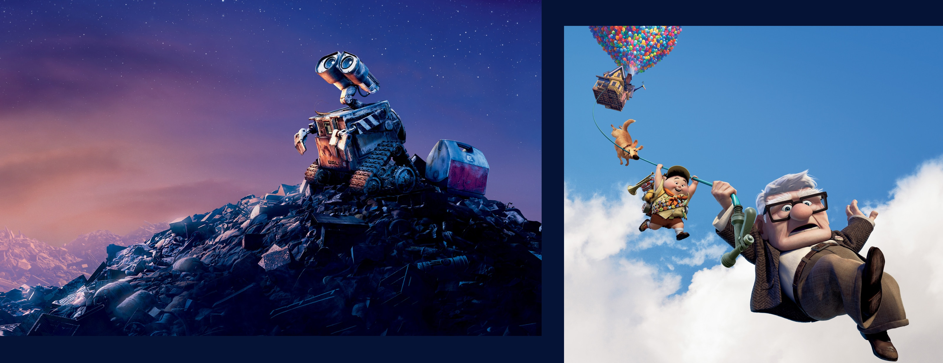 A still image from WALL.E and Up