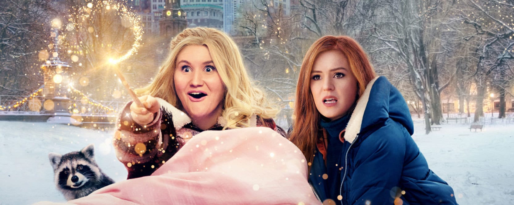 """Actors Jillian Bell and Isla Fisher in """"Godmothered"""""""