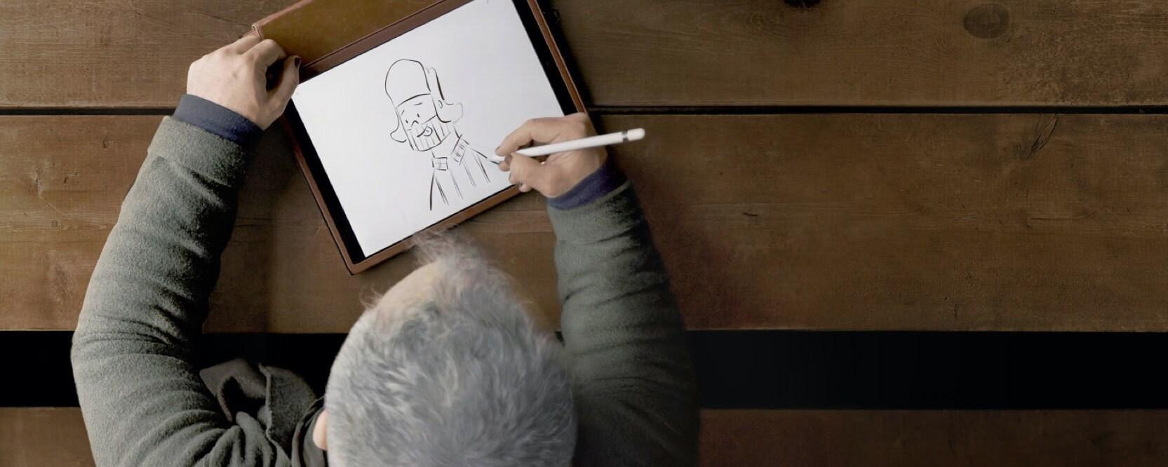 "Artist drawing a sketch on show ""Inside Pixar"""