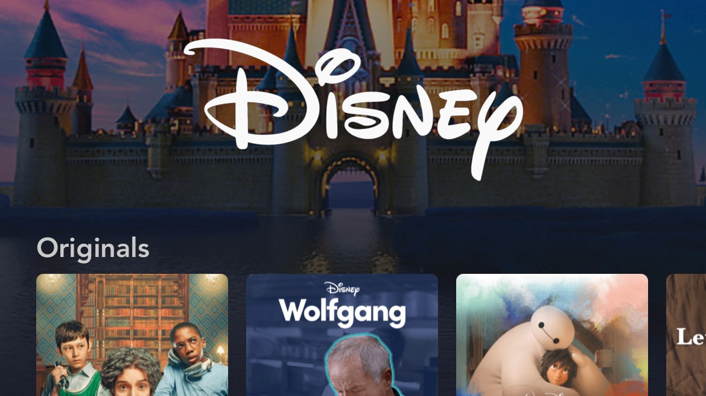 Disney+ Brand Landing Page on Mobile