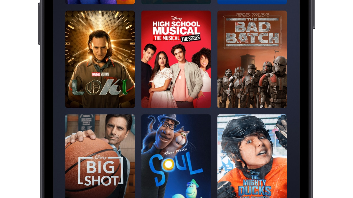 Disney+ Originals Page on Mobile Device