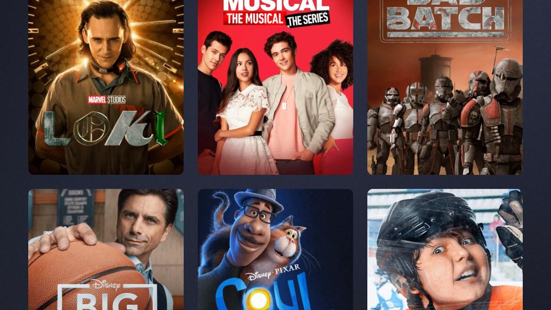 Disney+ Originals Page on Mobile