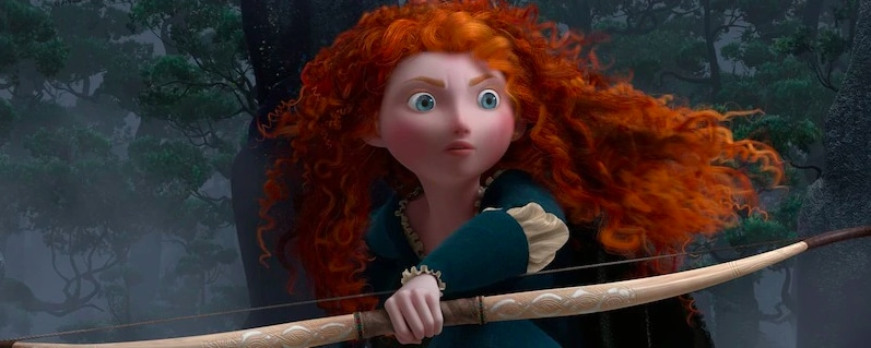 "Princess Merida from the animated movie ""Brave"""
