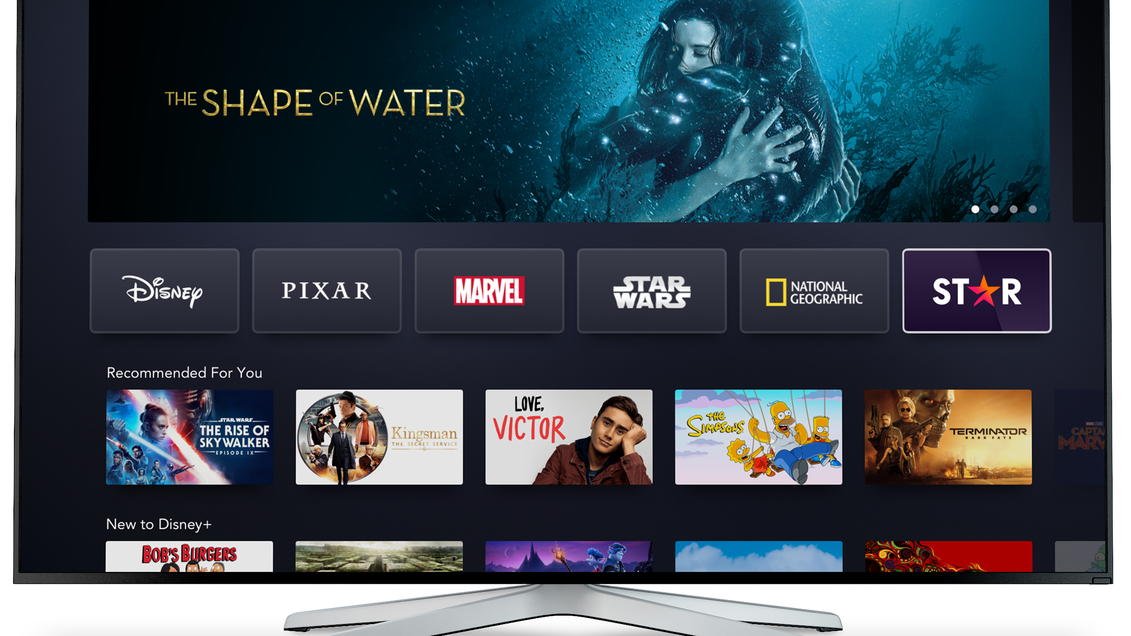 Disney+ with Star UI on Connected TV available in select markets outside the U.S. February 23, 2021. Content may vary by market.