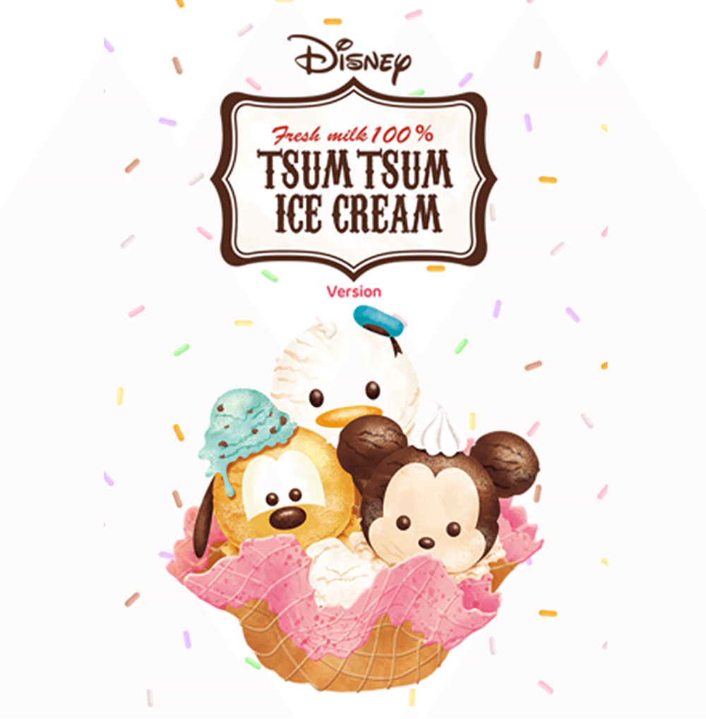 Stickers | Disney Tsum Tsum (Ice Cream)