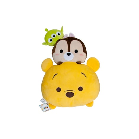 Disney Tsum Tsum Stack Little Green men, Chip & Pooh Plush Cushion