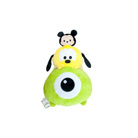 Disney Tsum Tsum Stack Mickey, Pluto & Mike Plush Cushion
