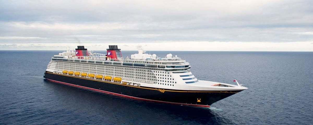 Disney Cruise Ship in the Open Ocean