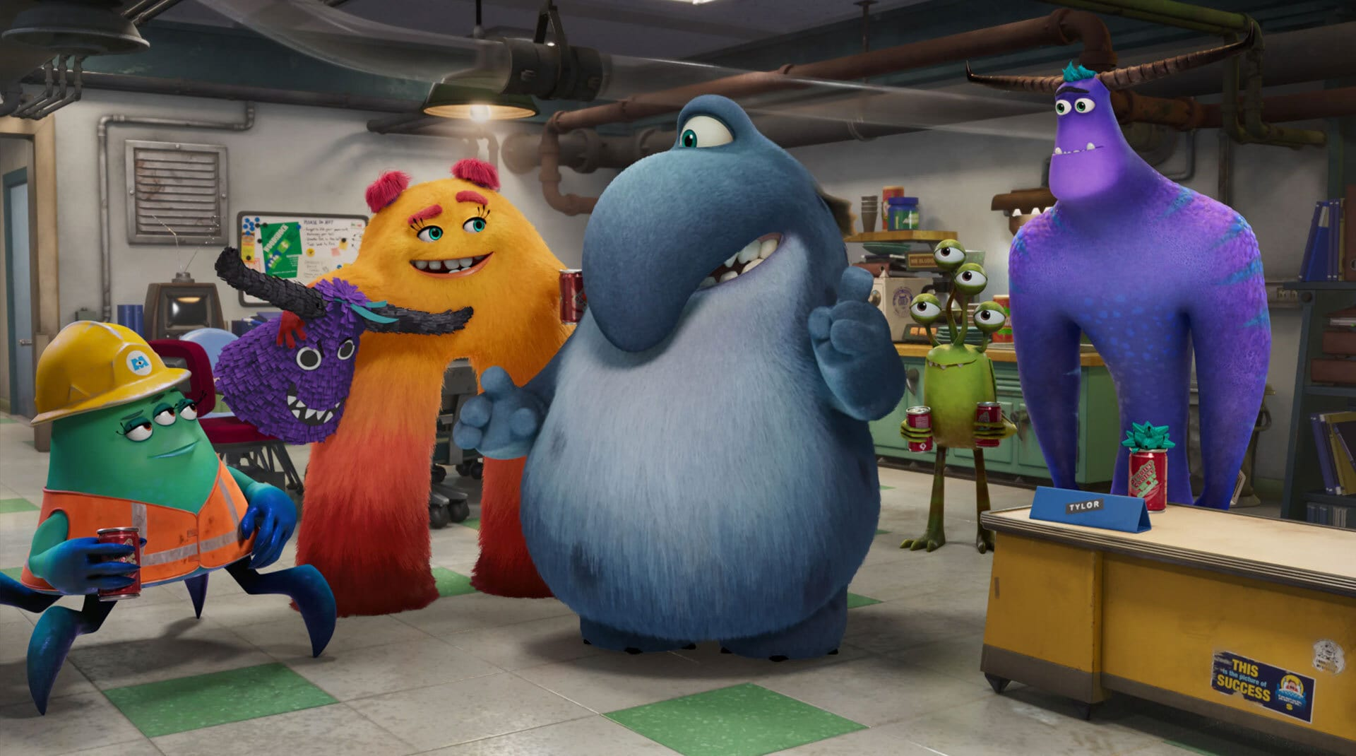 A still image from Monsters at work