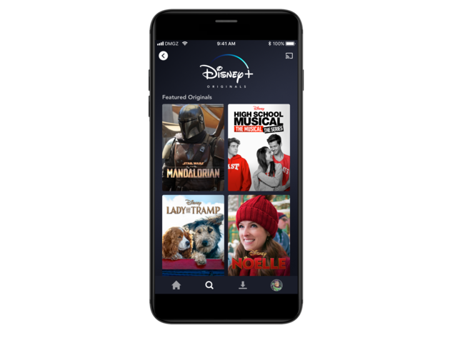 Disney+ Originals on mobile