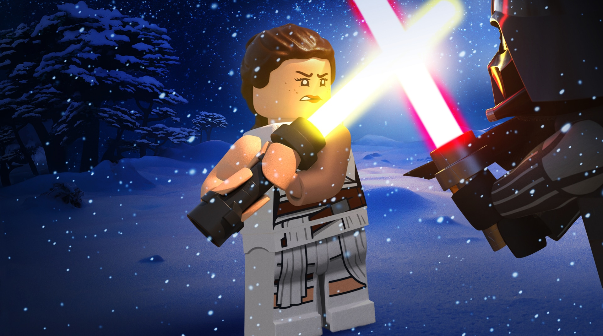 A still from Lego Star Wars Holiday Special