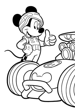 Mickey Roadster Racers - Colouring Sheet