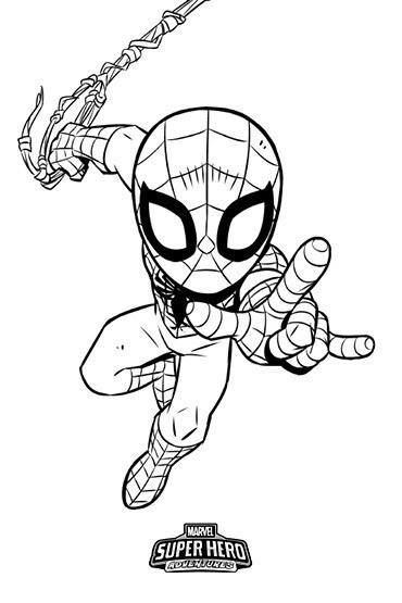 Marvel Superhero Adventures Spider Man Colouring Sheet