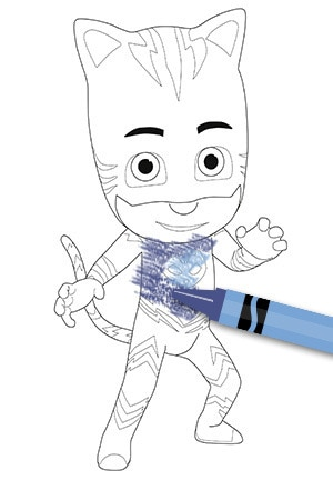 Catboy Colouring Page