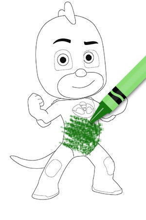 Gekko Colouring Page