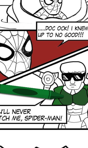 Spider-Man Comic Coloring Page