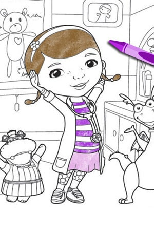 Doc Mcstuffins School Of Medicine Coloring Page Disney