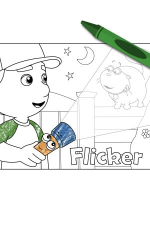handy manny flicker - Handy Manny Hammer Coloring Pages