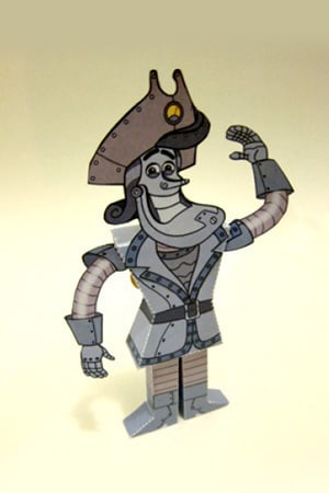Captain Gizmo Papercraft