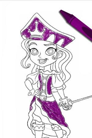 Color a Pirate Princess