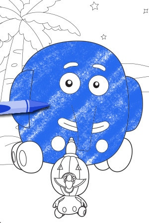 jungle junction jumpy pumpkin - Jungle Junction Coloring Pages
