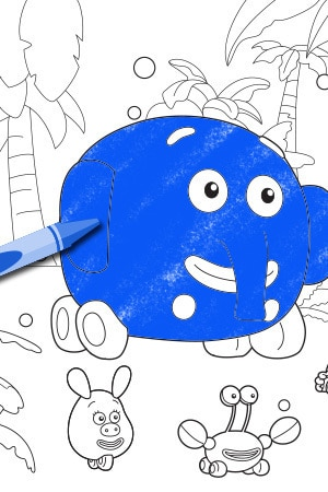 jungle junction wheeler wash - Jungle Junction Coloring Pages