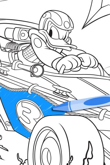 Mickey Roadster Racer Coloring Pages