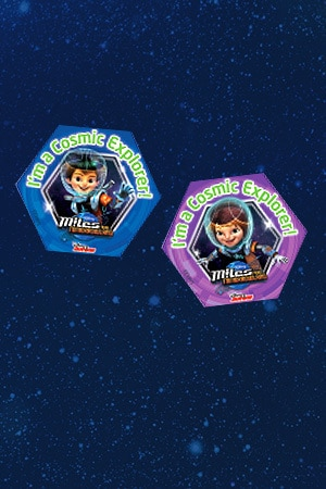 Cosmic Explorer Badges - Miles & Loretta