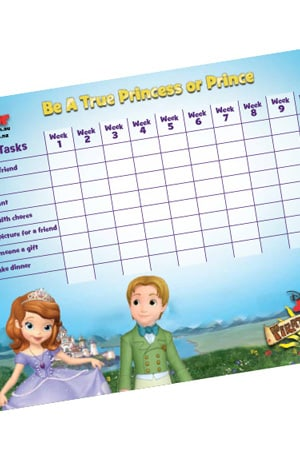 True Princess Activity Chart