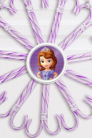 Sofia's Candy Cane Wreath
