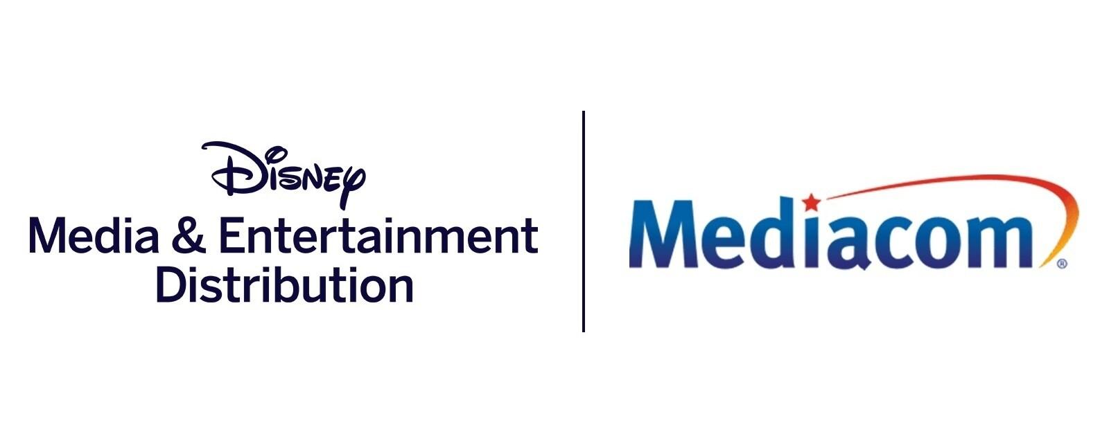 Disney Media & Entertainment Distribution and Mediacom logos
