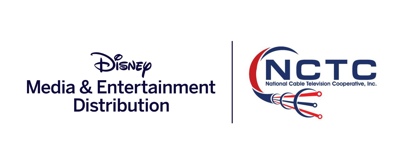 Disney Media & Entertainment Distribution and National Cable Television Cooperative, Inc. logos