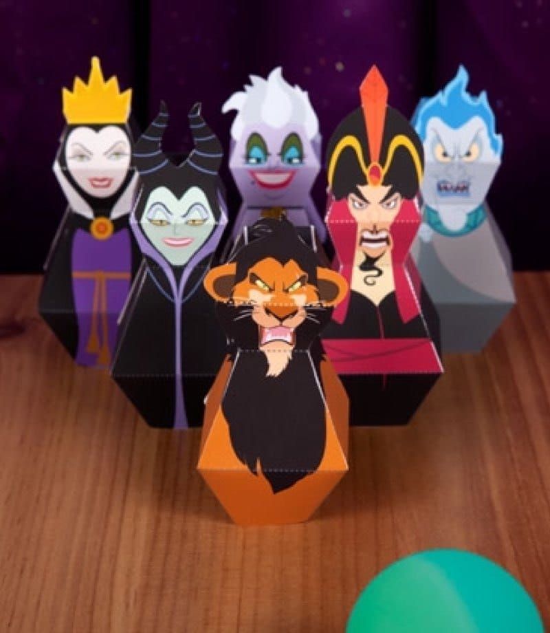 Disney Villains Bowling Pins