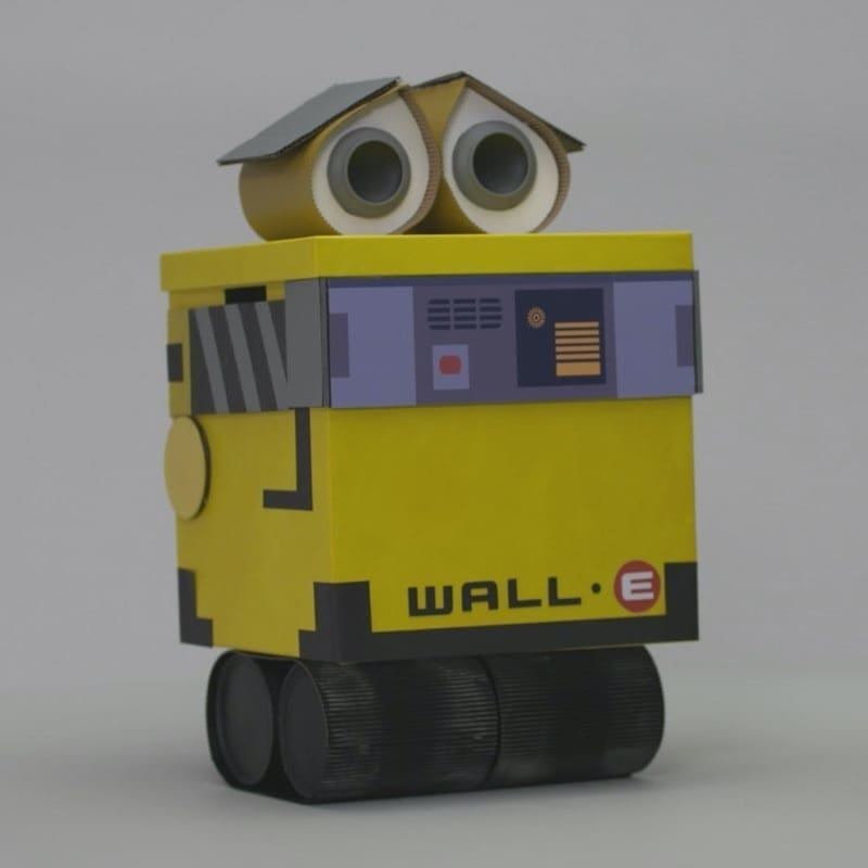A WALL-E Recycling Container