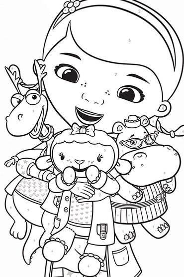 Docteur la peluche disney junior - Disney junior coloriage ...