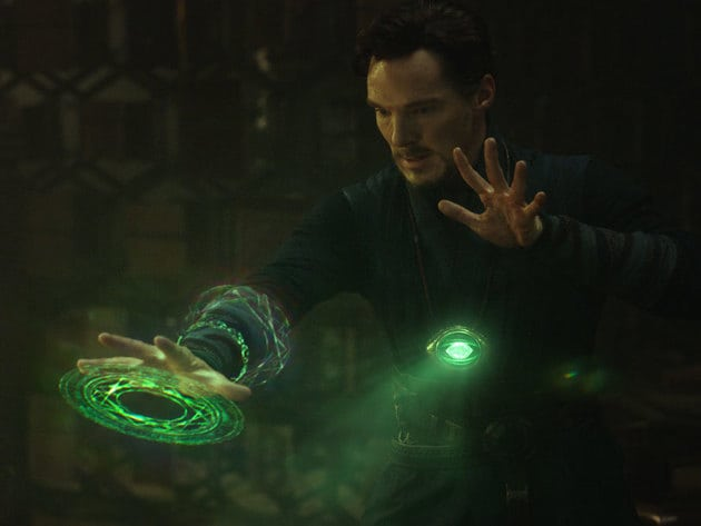 Doctor Strange's Eye of Agamotto and costume from Marvel Studios' Doctor Strange