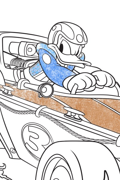 Donald Colouring Page